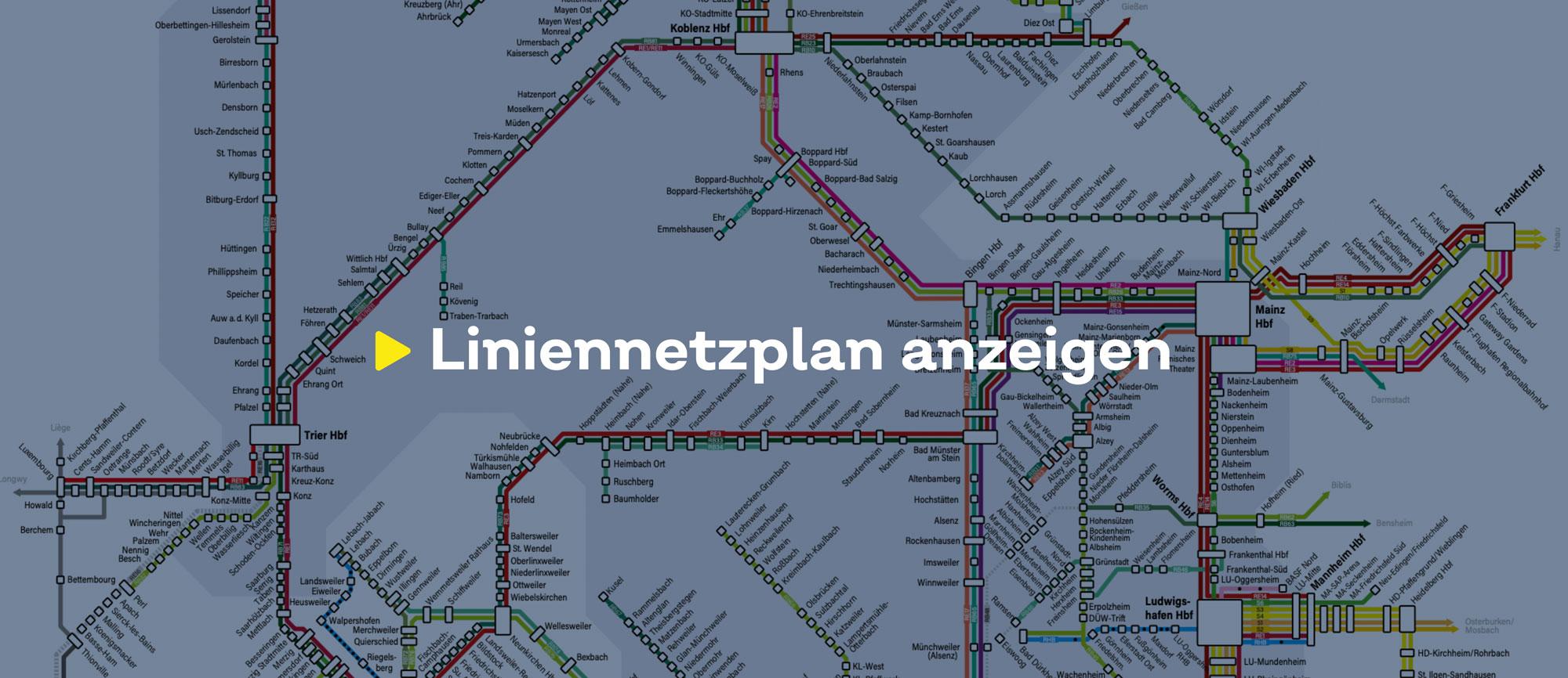 Text 'Liniennetzplan anzeigen' auf einem bläulich eingefärbten Hintergrund, der einen Ausschnitt des Liniennetzes zeigt